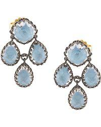 Larkspur & Hawk - Antoinette Girandole Earring - Blue - Lyst