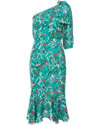 Saloni - Juliet Floral Midi Dress - Lyst