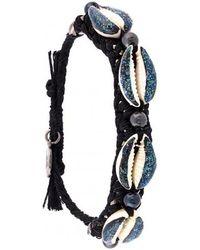 Venessa Arizaga - Shell We Dance Bracelet - Black & Blue - Lyst
