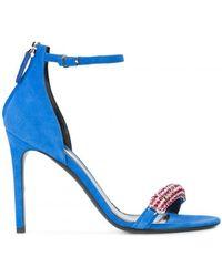 CALVIN KLEIN 205W39NYC - Embellished Suede Sandals - Lyst