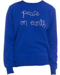 Lingua Franca - Peace On Earth Crewneck Sweater - Lyst