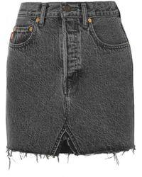 Vetements - X Levi Frayed Mini Skirt - Lyst
