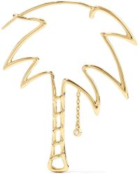 Kirna Zabete - Palm Tree 18k Gold Diamond Single Earring - Lyst