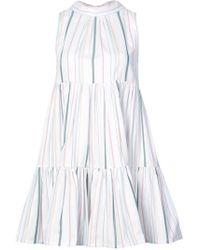 Beautiful Bottoms - Neck Tie Striped Mini Dress - Lyst