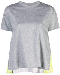 Kirna Zabete Crew Tee With Pleated Zip Sides - Gray
