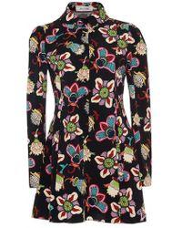 Valentino | Popflower Print Button Mini Dress | Lyst