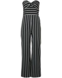 Veronica Beard - Striped Bustier Jumpsuit - Lyst