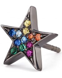 Shelly Zucker Jewelry - Large Star Earring With Stones - Lyst