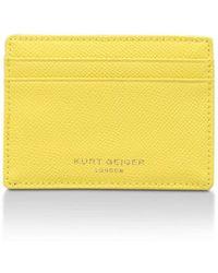 Kurt Geiger - R Card Holder In Yellow - Lyst