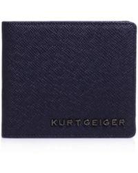 Kurt Geiger - Saffiano American Wallet In Navy - Lyst