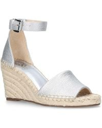 2e64183d0eb Vince Camuto - Silver  leera  High Wedge Sandals - Lyst