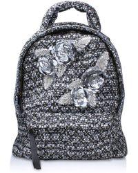 Kurt Geiger - Tweed Chantal Backpack In Blue - Lyst