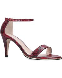 Carvela Kurt Geiger - Red 'kink' Snake Print Heeled Sandals - Lyst