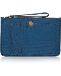 Anne Klein - Small Crocodile Embossed Card Case - Lyst