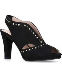 Carvela Kurt Geiger - Black 'tasmin' Embellished Cut Out Court Shoes - Lyst