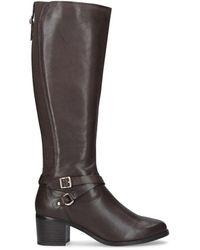 Nine West - Brown 'raleigh' Leather High Leg Boots - Lyst