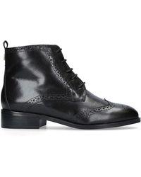 Carvela Kurt Geiger - Black 'toby' Flat Lace Up Boots - Lyst