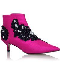 KG by Kurt Geiger - Pink 'rokka' High Heel Ankle Boots - Lyst