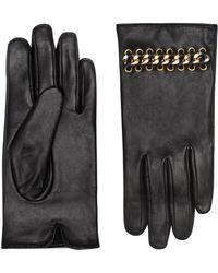 Kurt Geiger - Leather Chain Gloves - Lyst