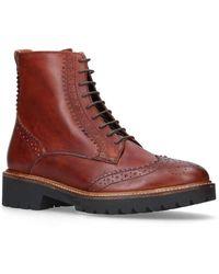 Carvela Kurt Geiger - Snail Flat Lace Up Boots - Lyst