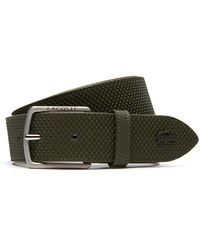 Lacoste - Chantaco Engraved Tongue Buckle Leather Belt - Lyst