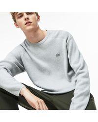 Lacoste - Motion Crew Neck Coolmax Cotton Sweater - Lyst