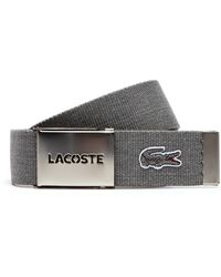 Lacoste - Woven Belt Strap And Perforated Buckle Gift Set - Lyst