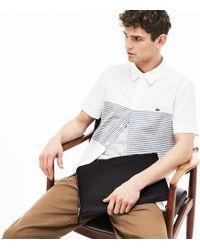 Lacoste - Chantaco Matte Piqué Leather Zip Document Holder - Lyst