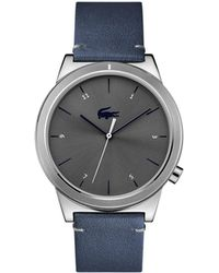 Lacoste - Motion Watch With Blue Leather Strap - Lyst
