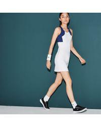 59e8701a9 Lacoste - Sport Tennis Colorblock Jersey Racerback Dress - Lyst