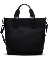 Lacoste - Chantaco Piqué Leather Vertical Tote Bag - Lyst