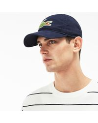 8b5705af Lacoste Big Croc Gabardine Cap in Orange for Men - Save 62% - Lyst