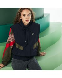 Lacoste - Fashion Show Hooded Technical Canvas Coat - Lyst