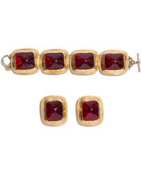 Anne Klein - Bracelet And Earring Set - Lyst