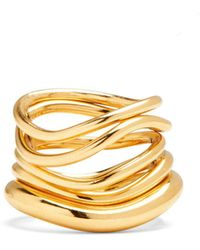 Lady Grey - Wave Ring Set In Gold - Lyst