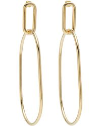 Lady Grey - Oval Link Hoops In Gold - Lyst
