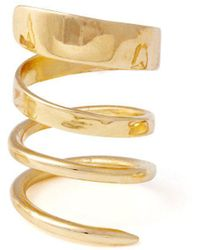 Lady Grey - Ribbon Ring In Gold - Lyst