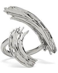 Lady Grey - Louise Ring In Rhodium - Lyst