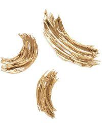 Lady Grey - Brushstroke Pin Set In Gold - Lyst