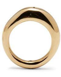 Lady Grey - Thin Organic Ring In Gold - Lyst