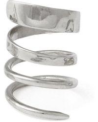 Lady Grey - Ribbon Ring In Rhodium - Lyst