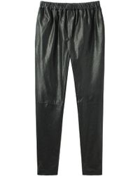 Organic By John Patrick - Leather Track Pant - Lyst