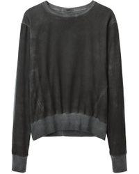 Helmut - Washed Voile Sweatshirt - Lyst