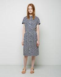 Blue Blue Japan - Indigo Linen Checker Dress - Lyst