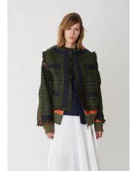 Sacai - Summer Tweed Oxford Bomber - Lyst