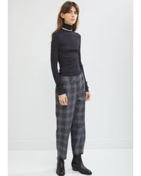 Acne Studios - Flannel Check Cropped Trousers - Lyst