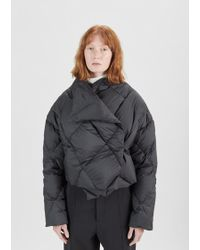 Pringle of Scotland - Cropped Quilted Puffer Jacket - Lyst