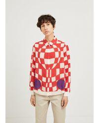 JW Anderson - Checkerboard Print Shirt - Lyst