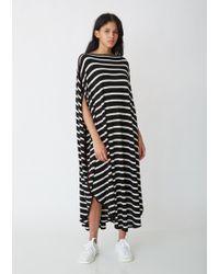 MM6 by Maison Martin Margiela - Circle Striped Dress - Lyst