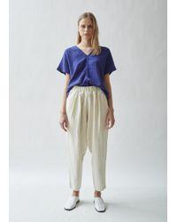 Black Crane - Carpenter Linen Trousers - Lyst